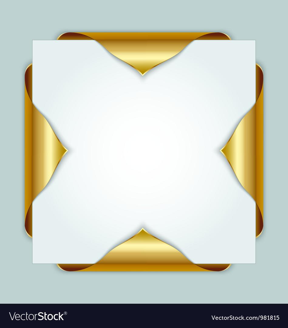 Golden bookmarks vector image
