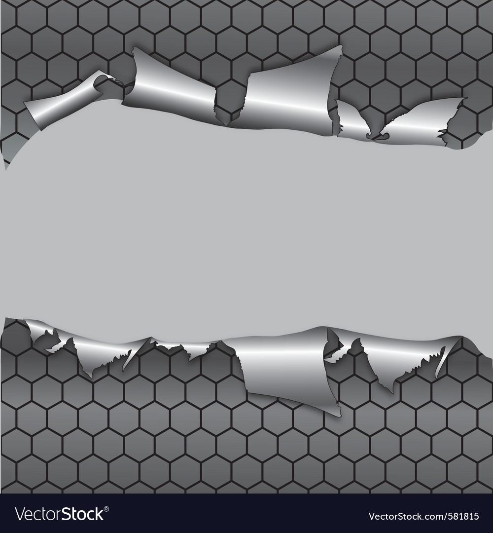 Hexagon metallic background