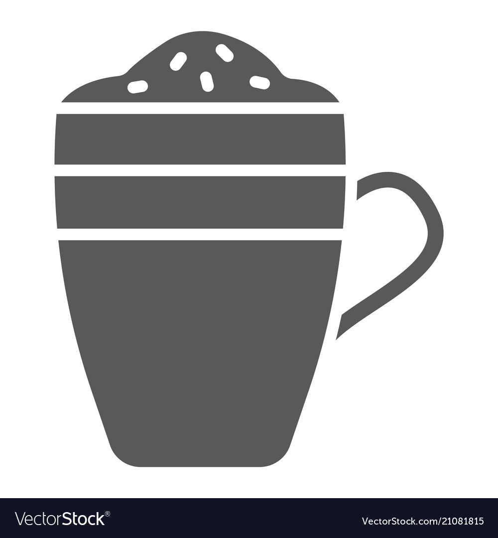 Latte glyph icon coffee and cafe coffee mug sign