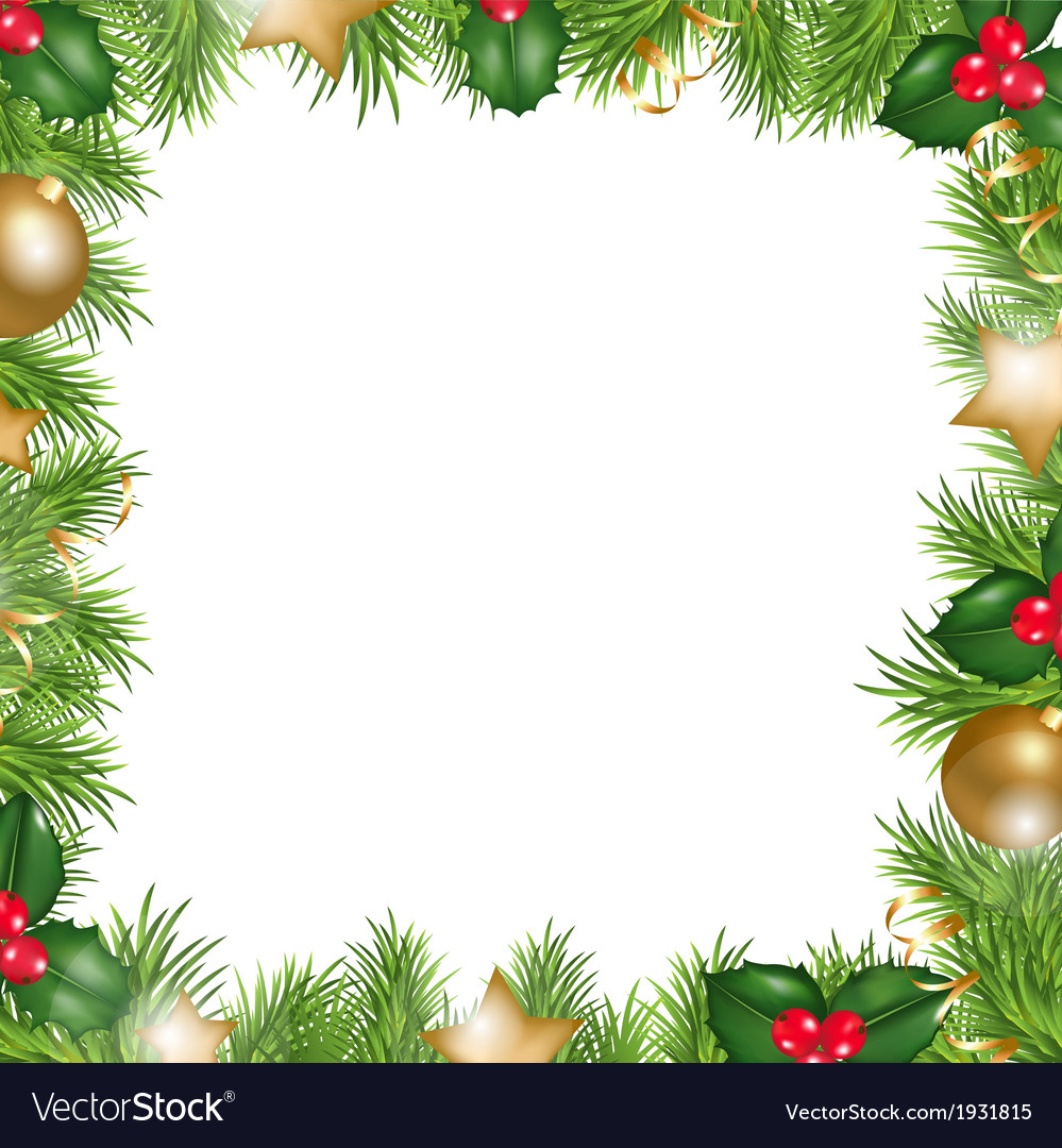 merry christmas border royalty free vector image rh vectorstock com christmas border vector graphics christmas border vector designs