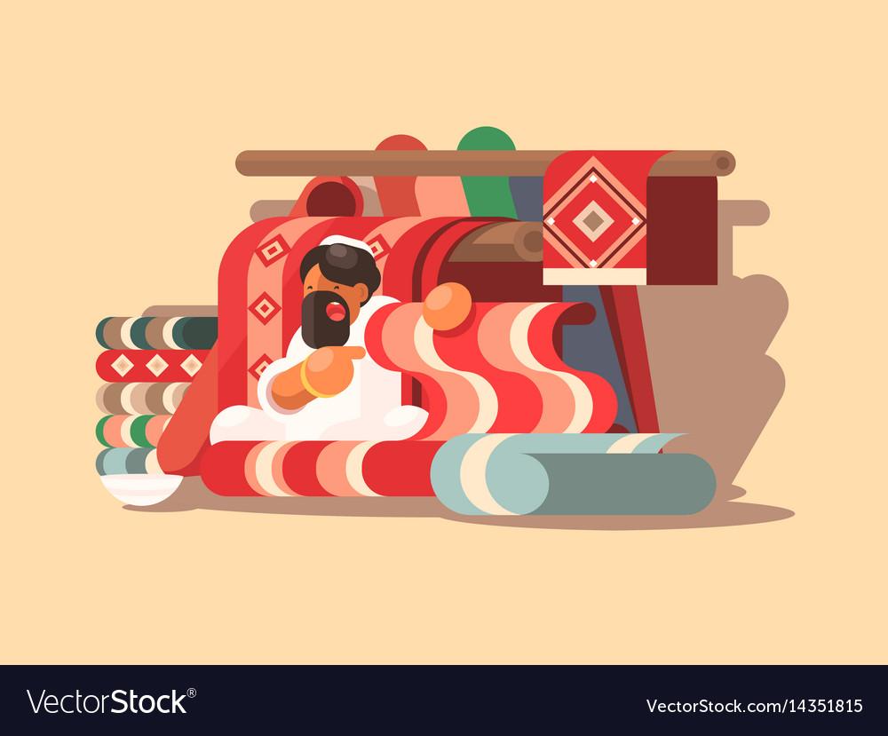 Seller of woolen carpets