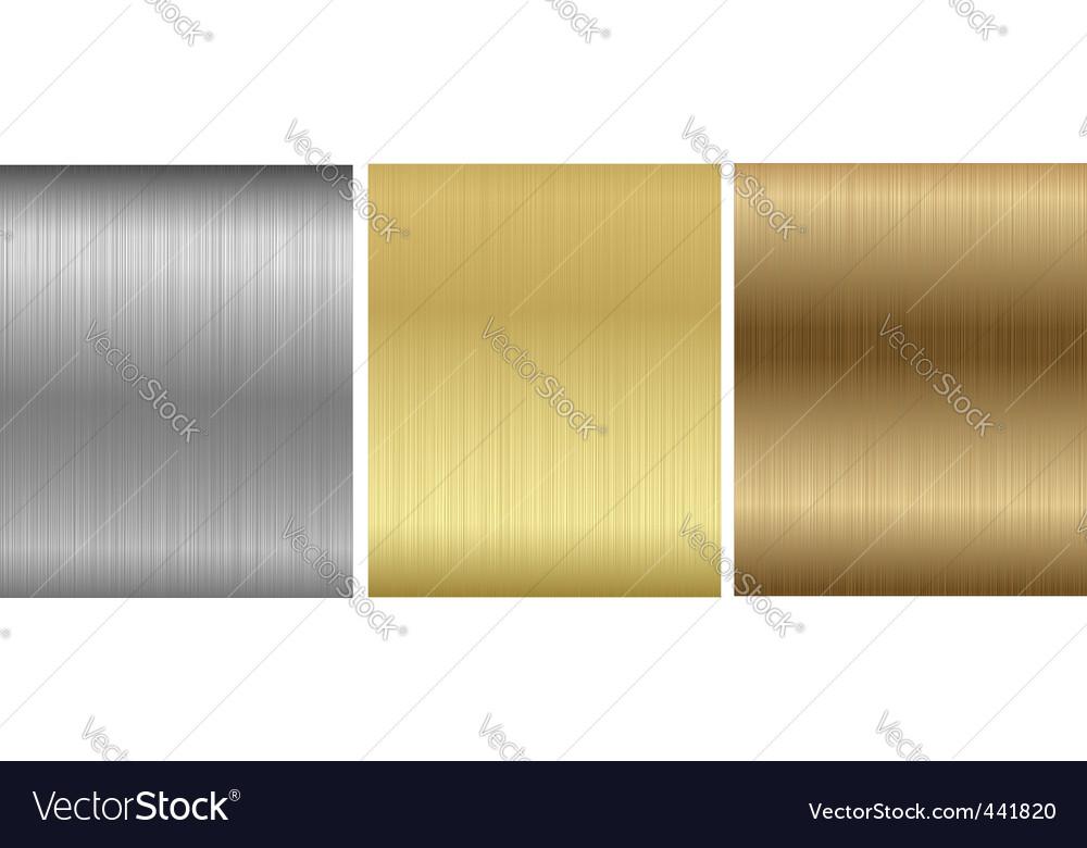 Aluminum bronze brass stitched textures