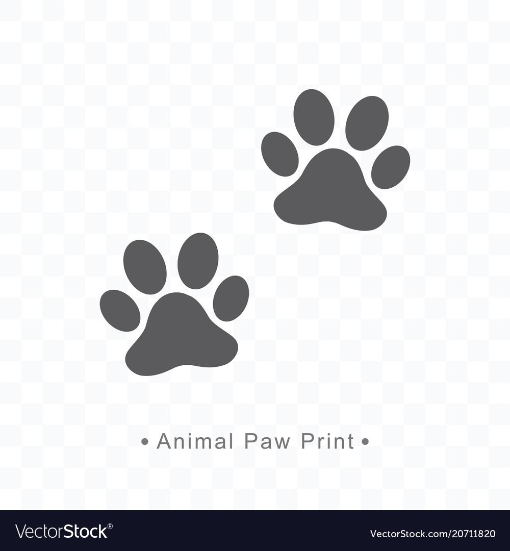 Animal paw print icon on