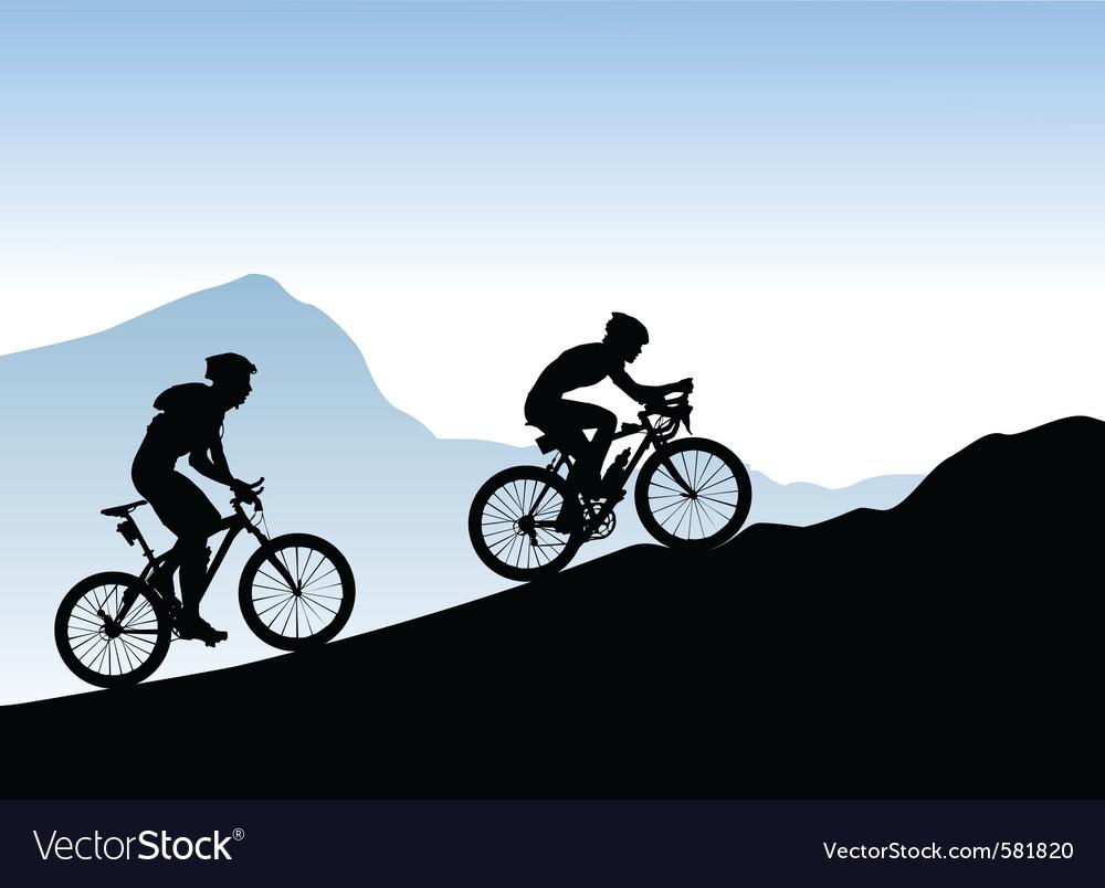 Bikers vector image