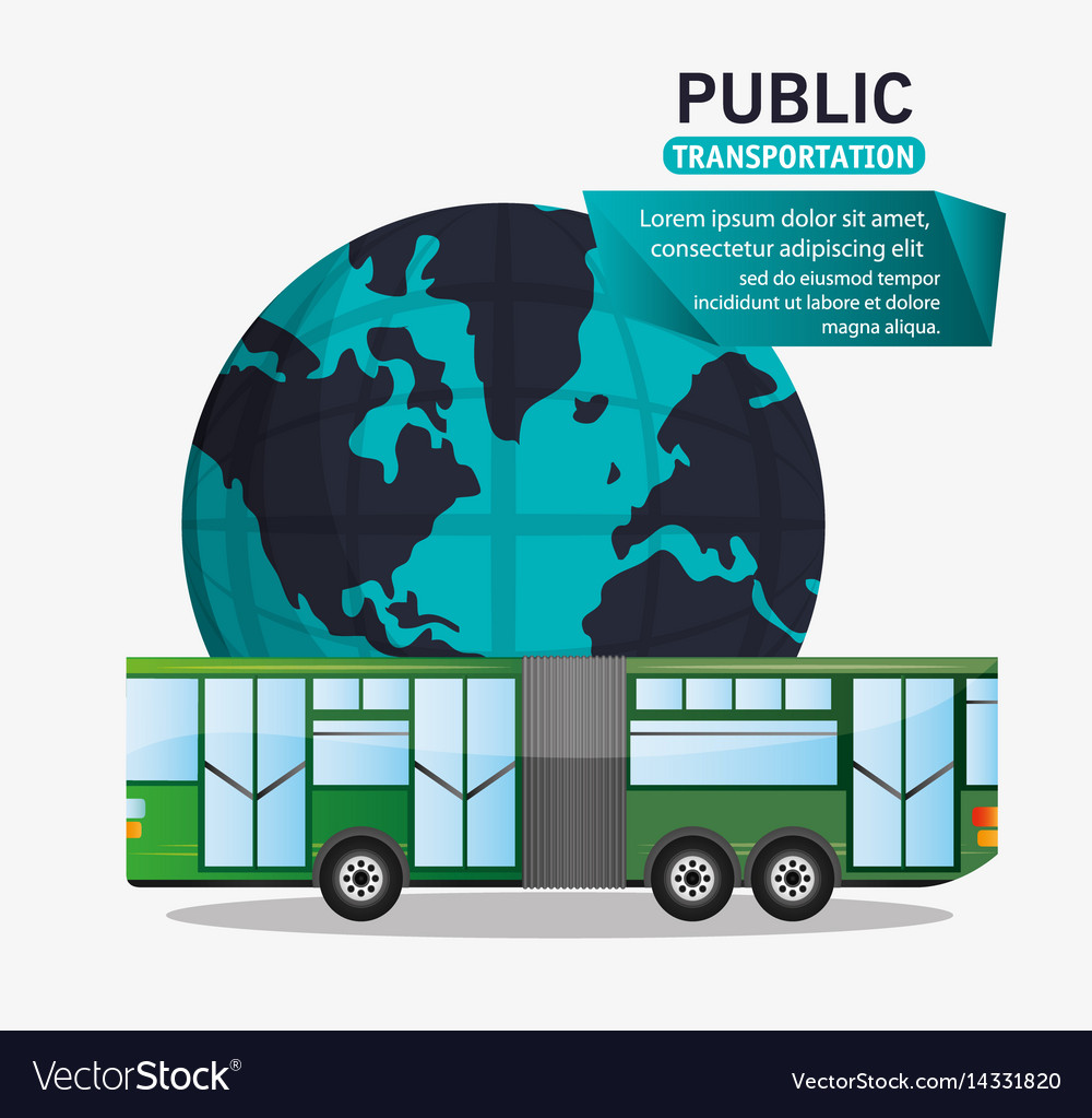 Bus passenger public transport world vector image