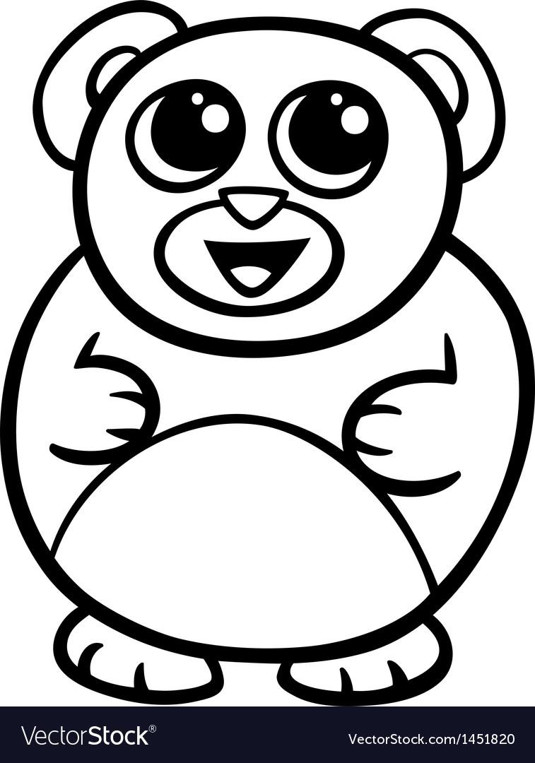 Cartoon kawaii bear coloring page