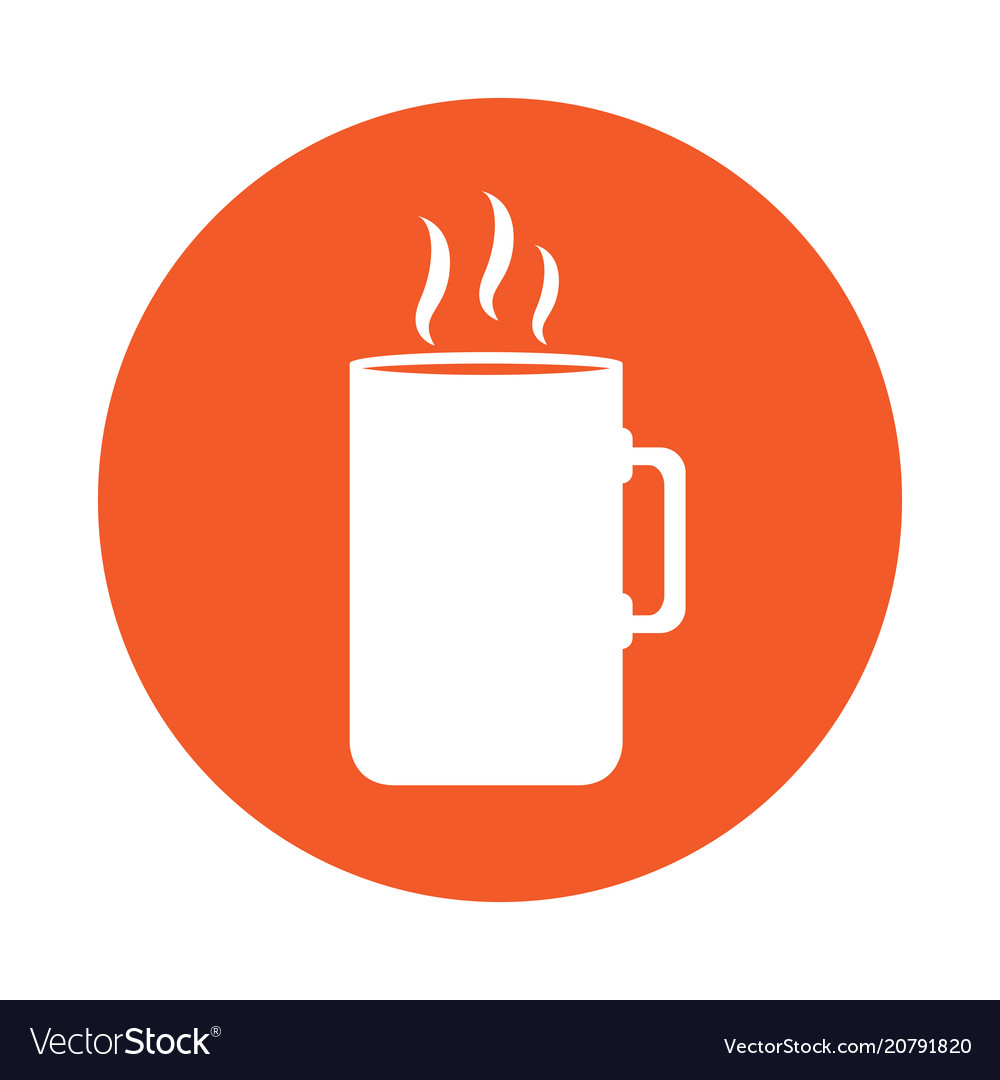 Coffee mug icon on a label