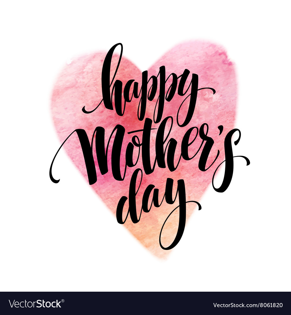 Hand drawn decorative lettering happy mothers
