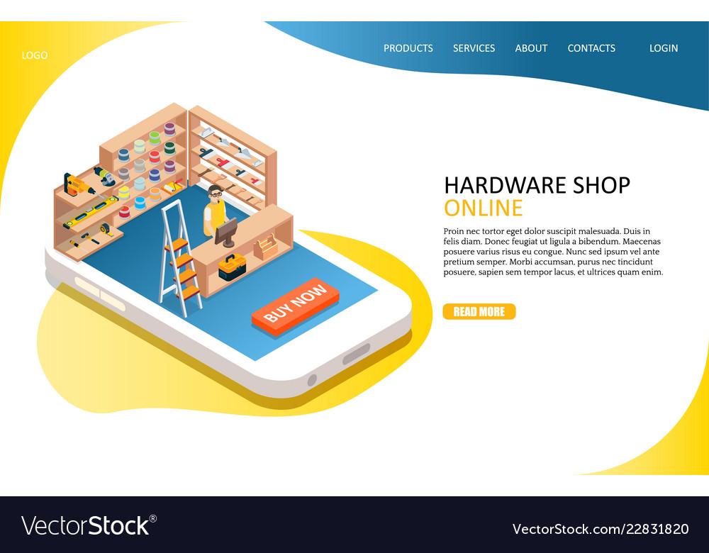 Hardware online shop landing page website
