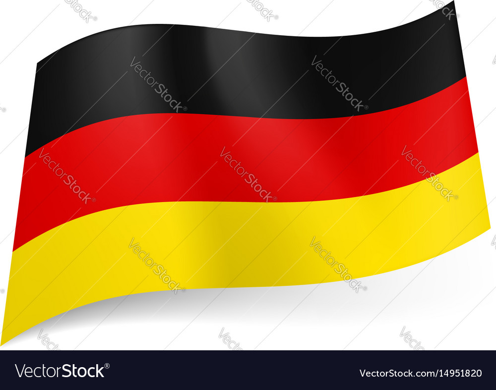 National flag of germany black red and yellow