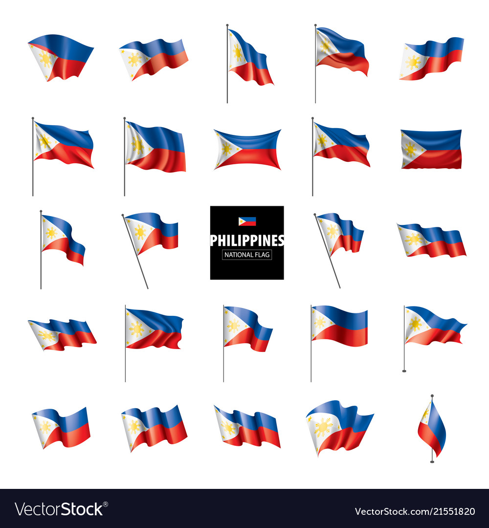 Philippines flag on a white