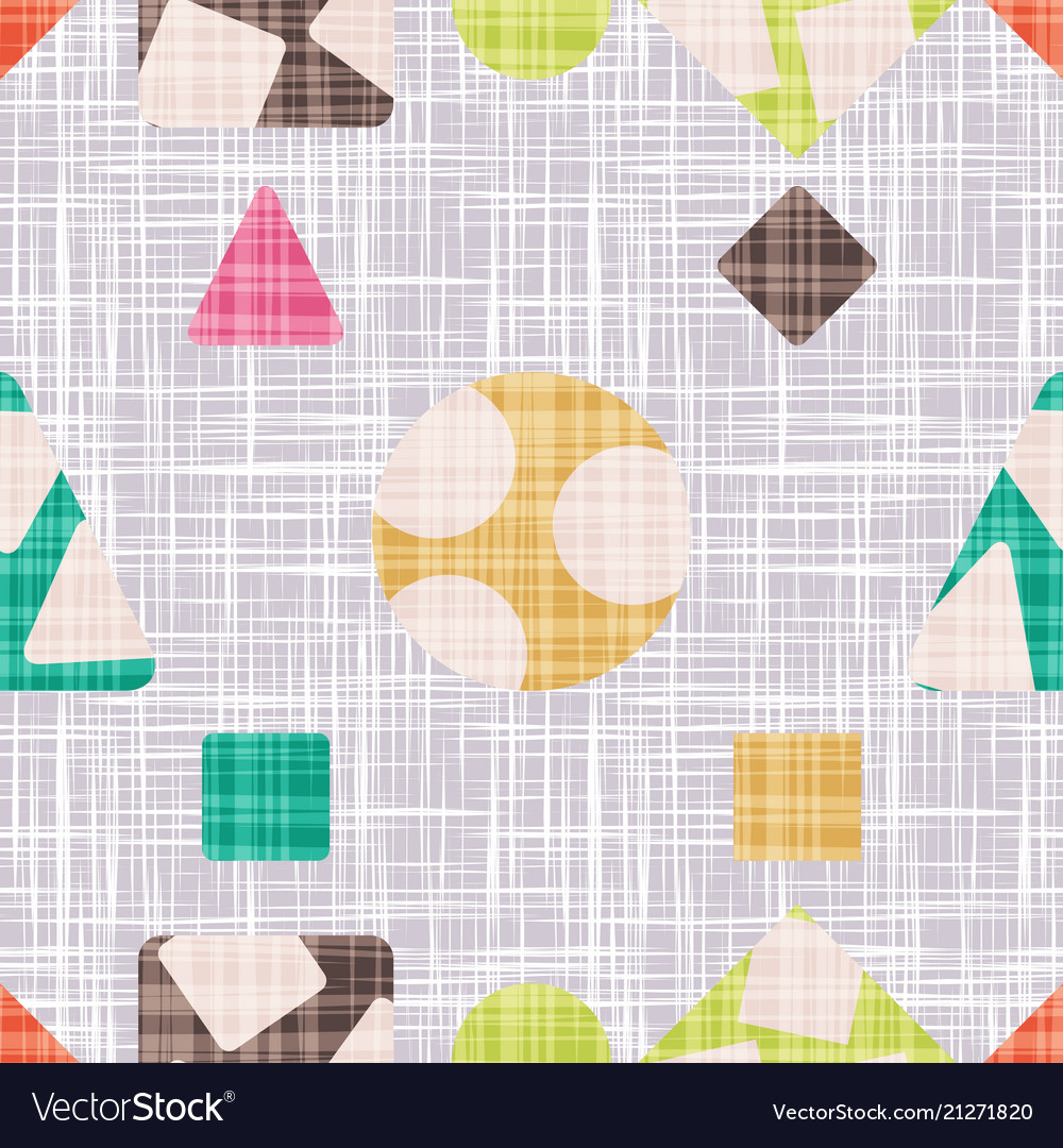 Retro pattern for textile with geometric shapes