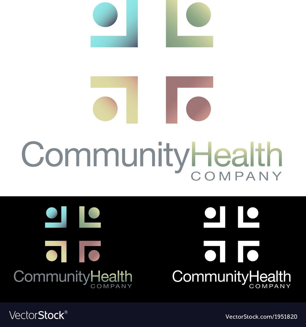 Social community health icon logo