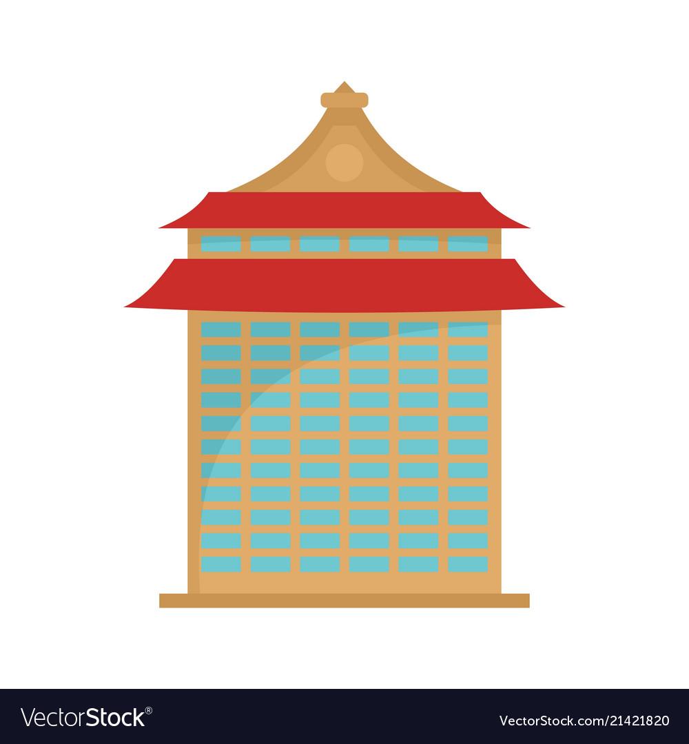 Taipei building icon flat style