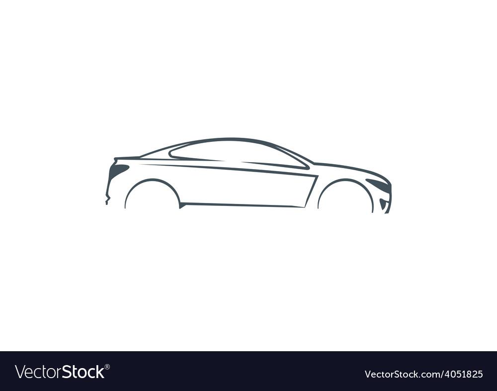 car abstract automotive concept logo royalty free vector