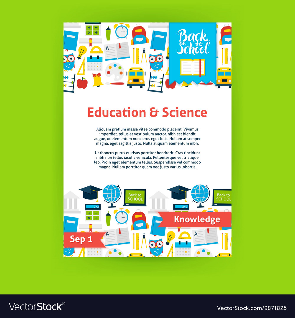 Education Science Poster Template Royalty Free Vector Image
