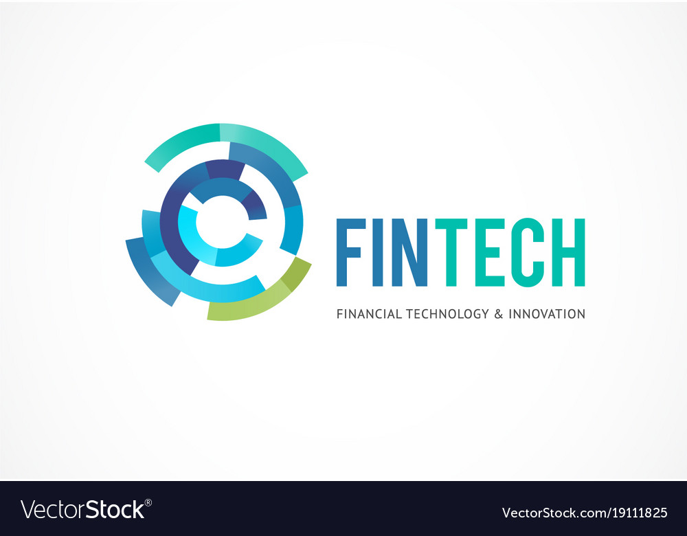 Logo concept for digital finance industry vector image