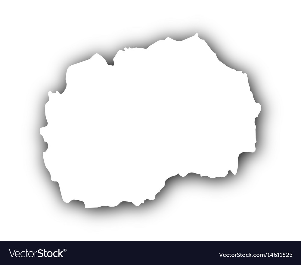Map of macedonia with shadow vector image