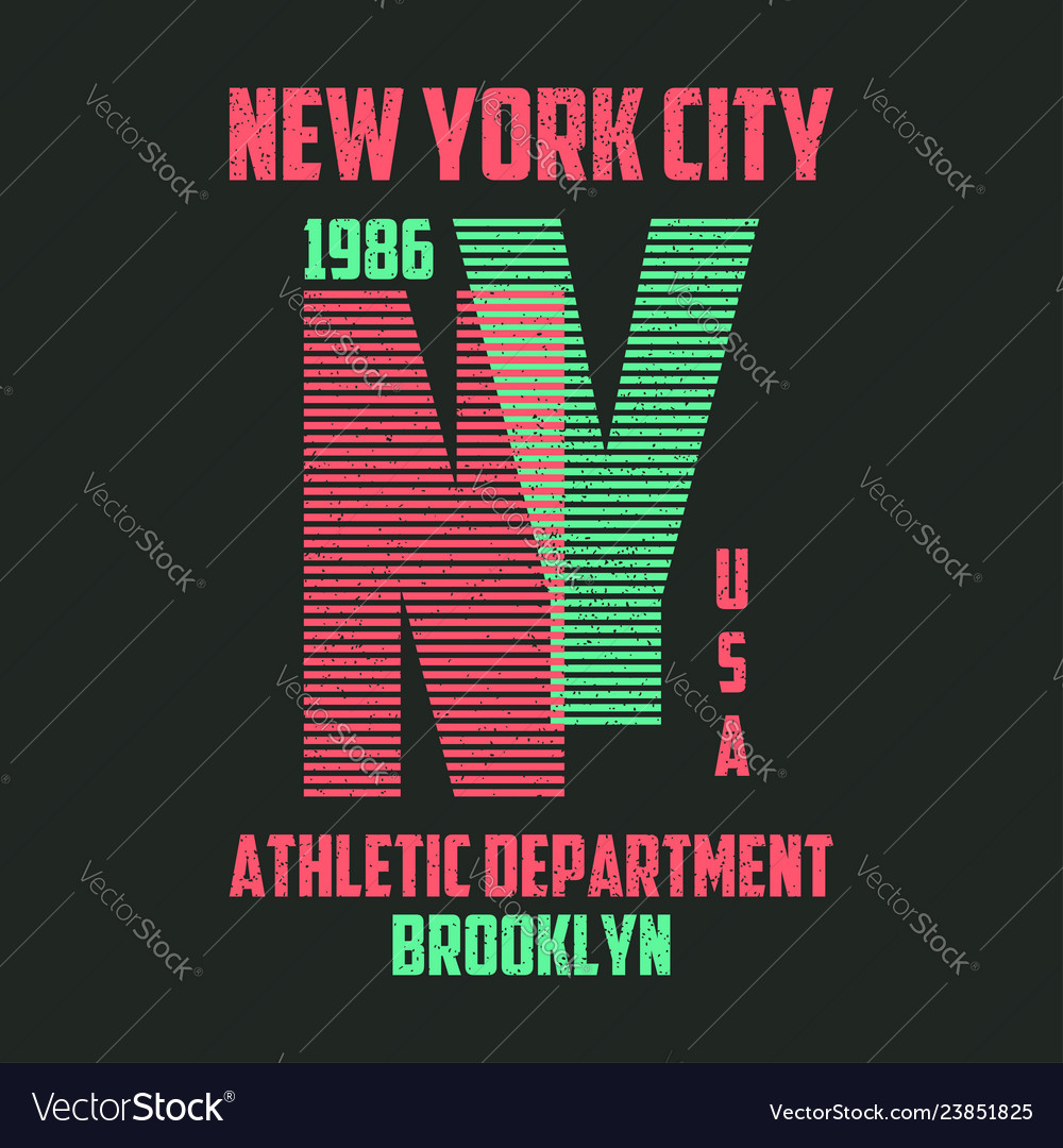 New york typography for t-shirt brooklyn modern