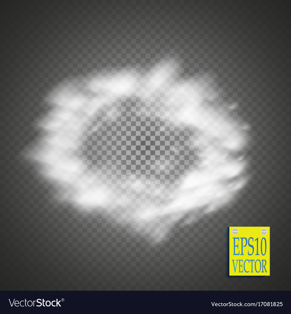 Realistic isolated smoke ring effect for vector image