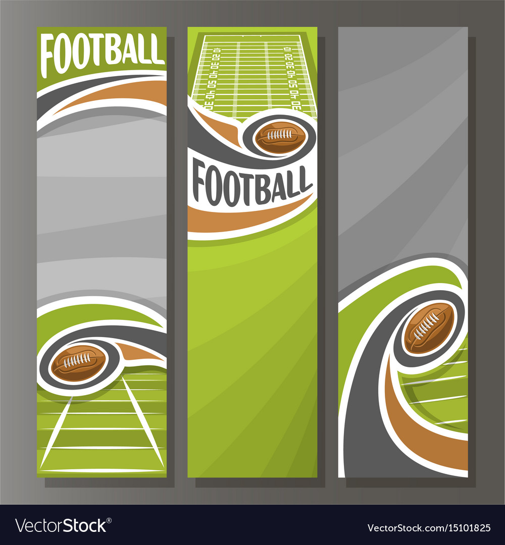 Vertical Banners For American Football Royalty Free Vector
