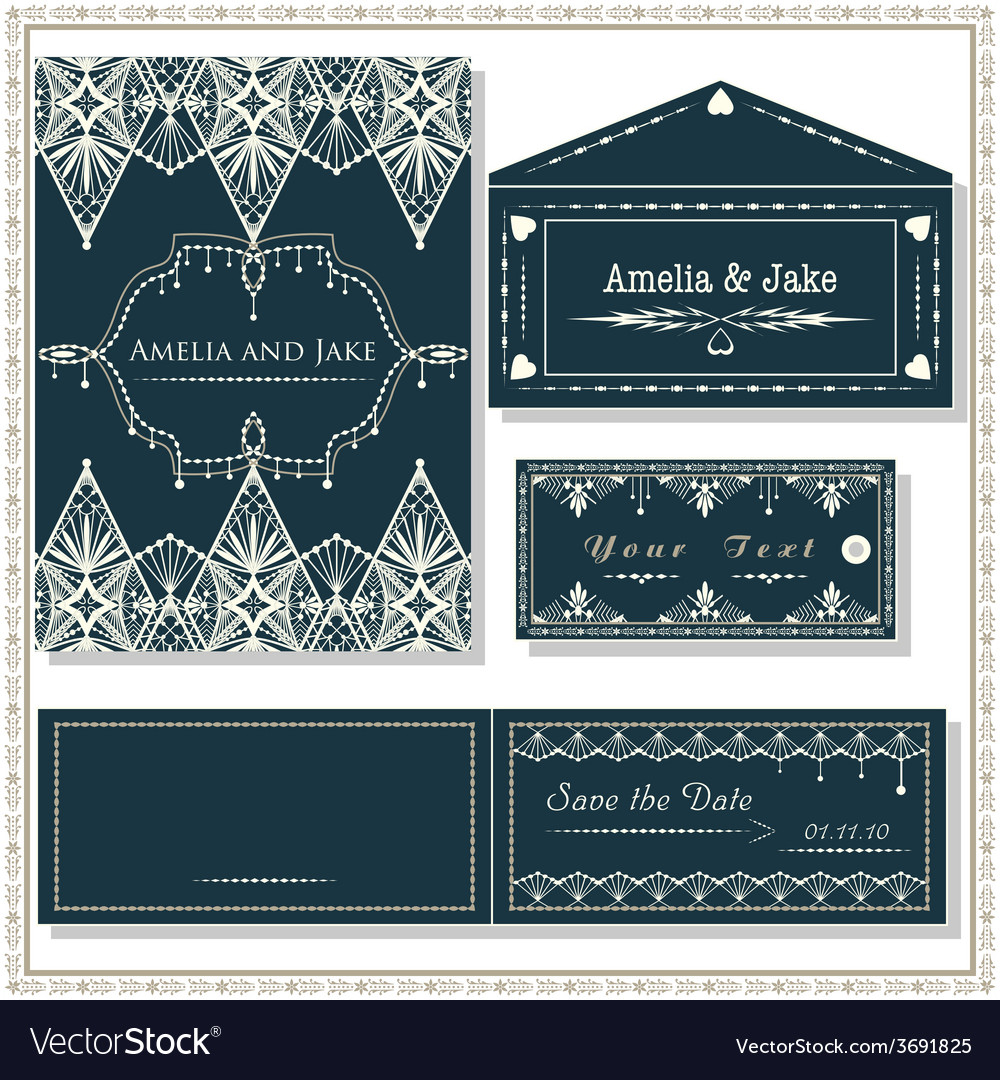 Wedding invitation cards tag and envelope wedding