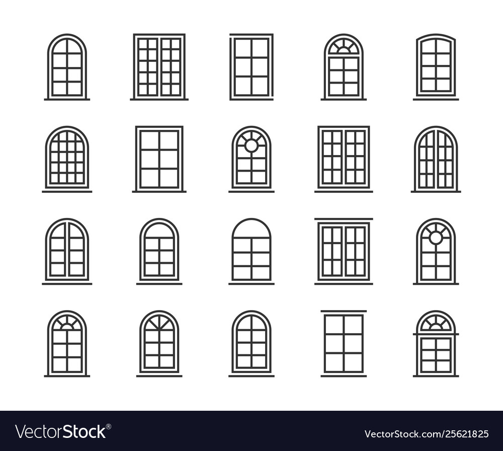 Window icon editable stroke 64x64 pixel perfect