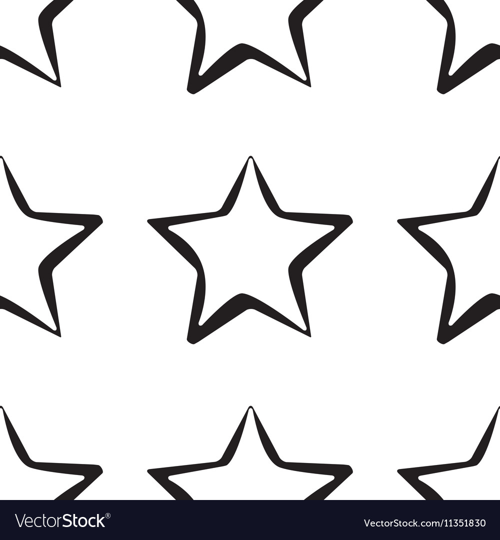 Abstract star pattern Black and white texture