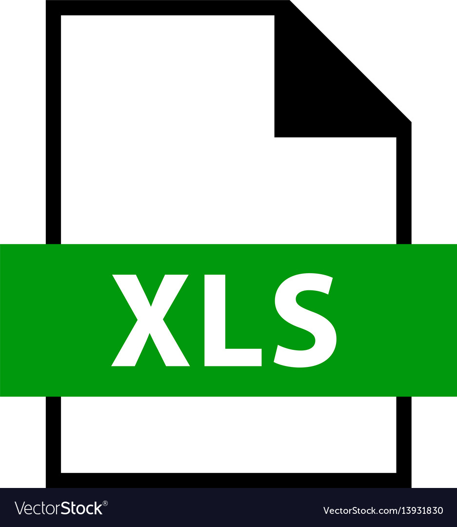 File name extension xls type