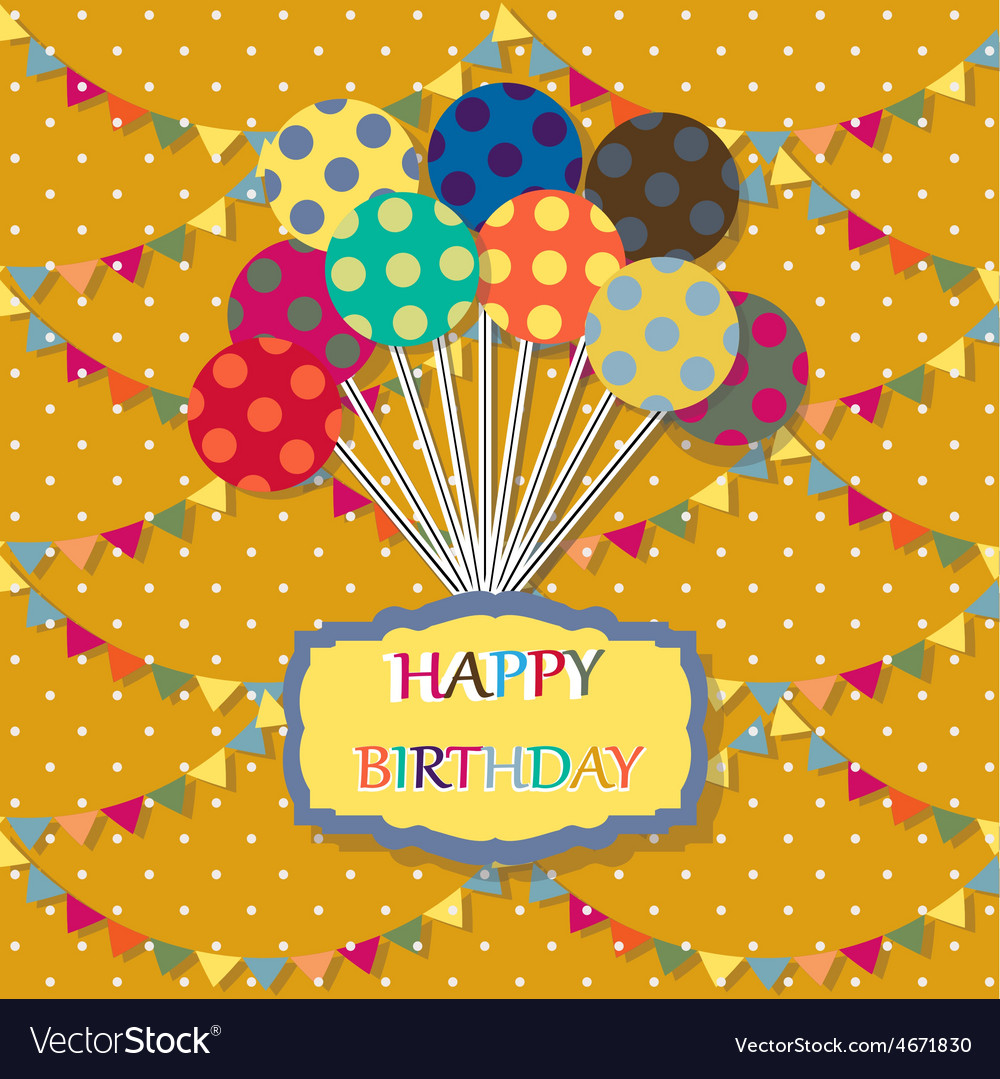 Happy birthday card Celebration background with
