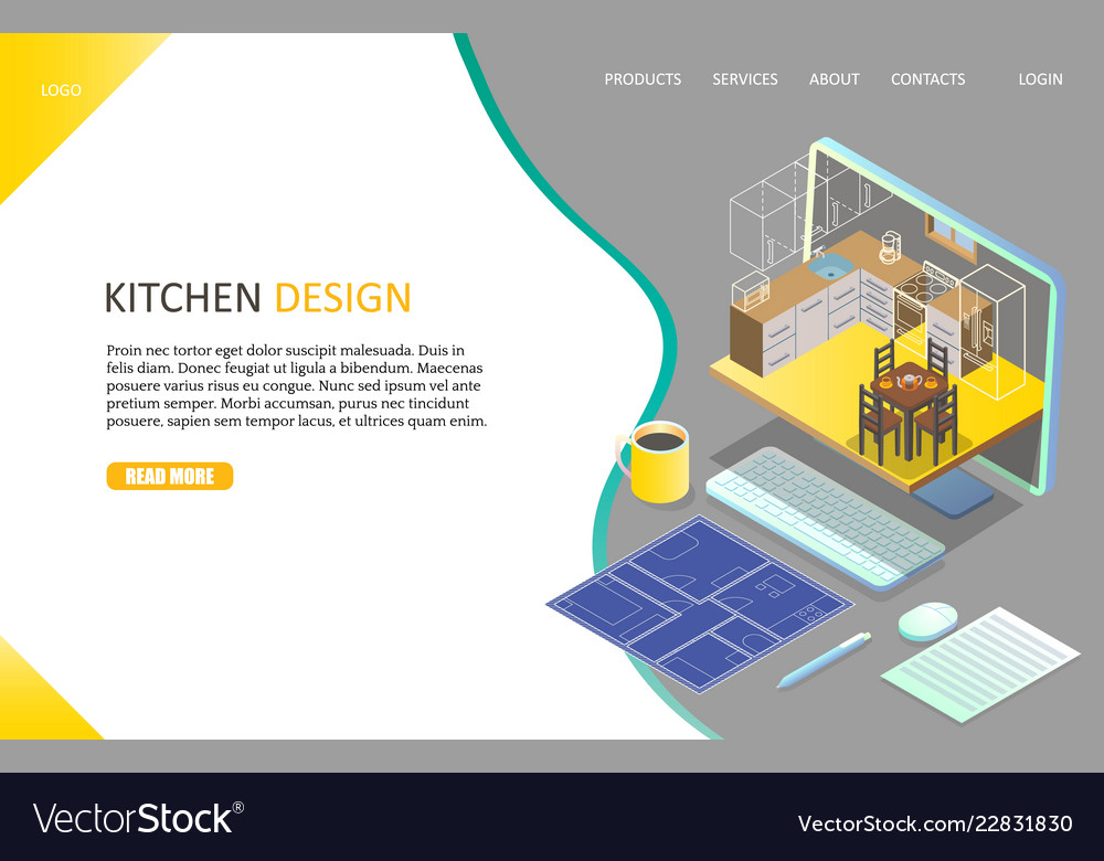 Kitchen design landing page website