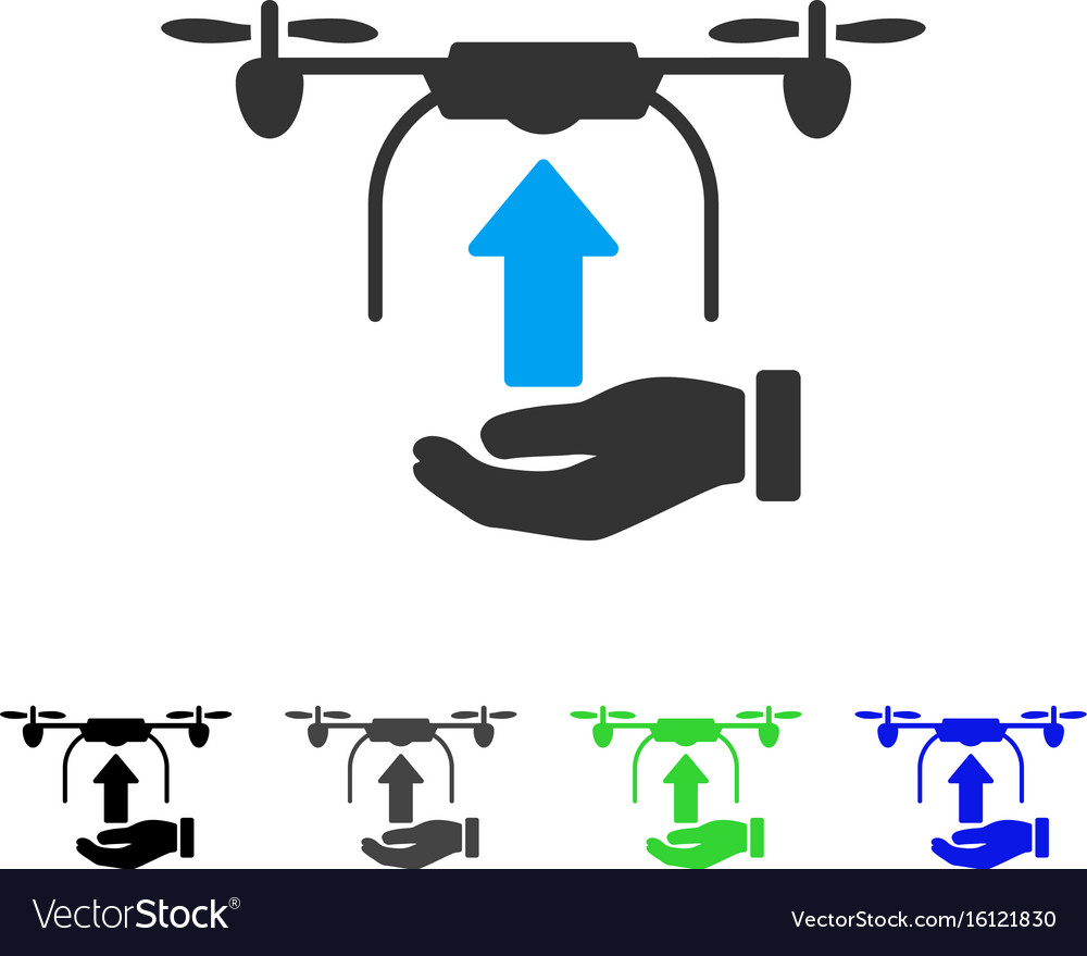 Send drone hand flat icon vector image