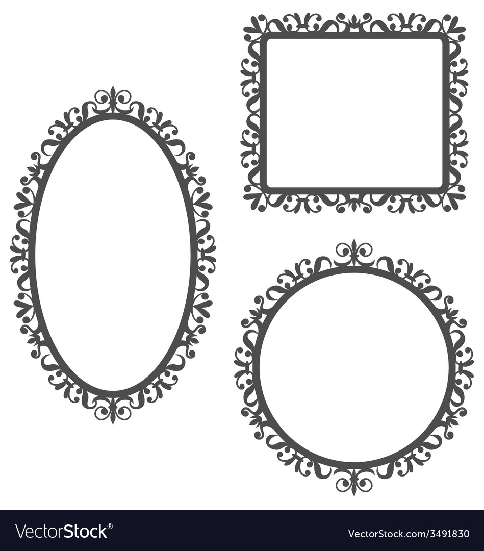 Vintage frames isolated on white vector image