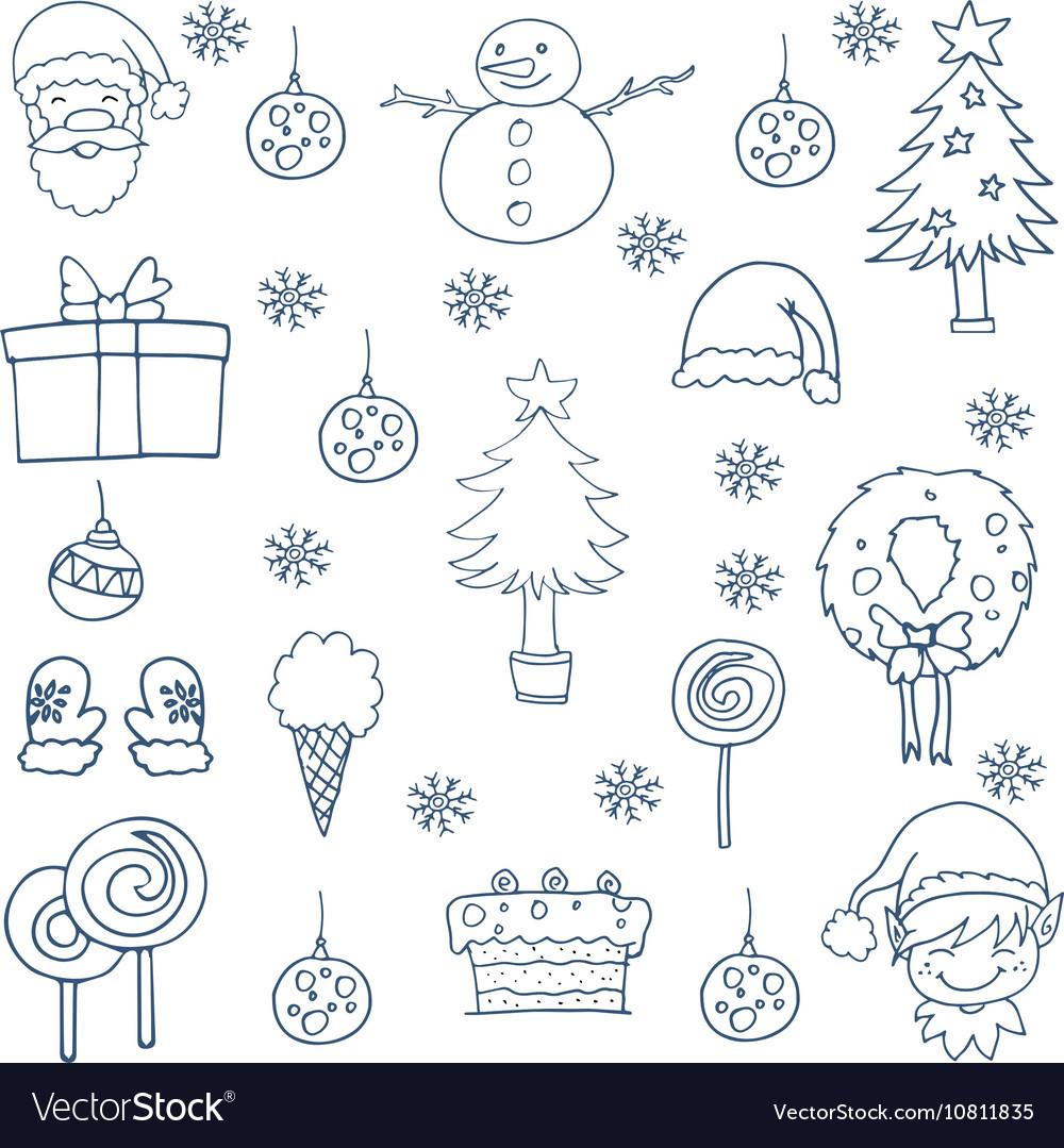 Hand draw christmas set design