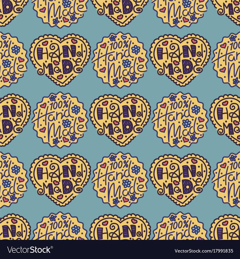Handmade needlework craft seamless pattern sewing