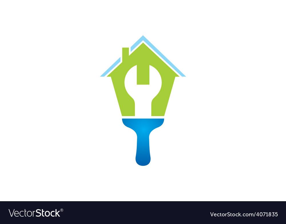 House work maintenance logo