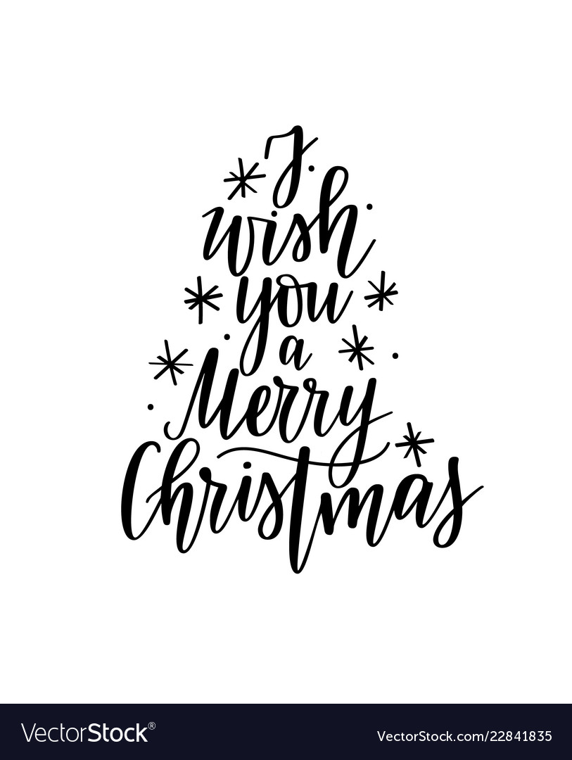 I wish you a merry christmas lettering