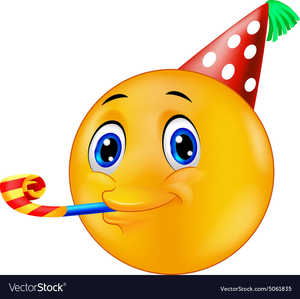 smiley emoticon going to a party royalty free vector image emotion clip art free downloads emoticon clip art free