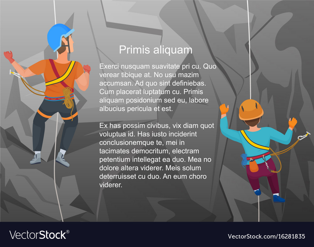 Two alpinists climbing on