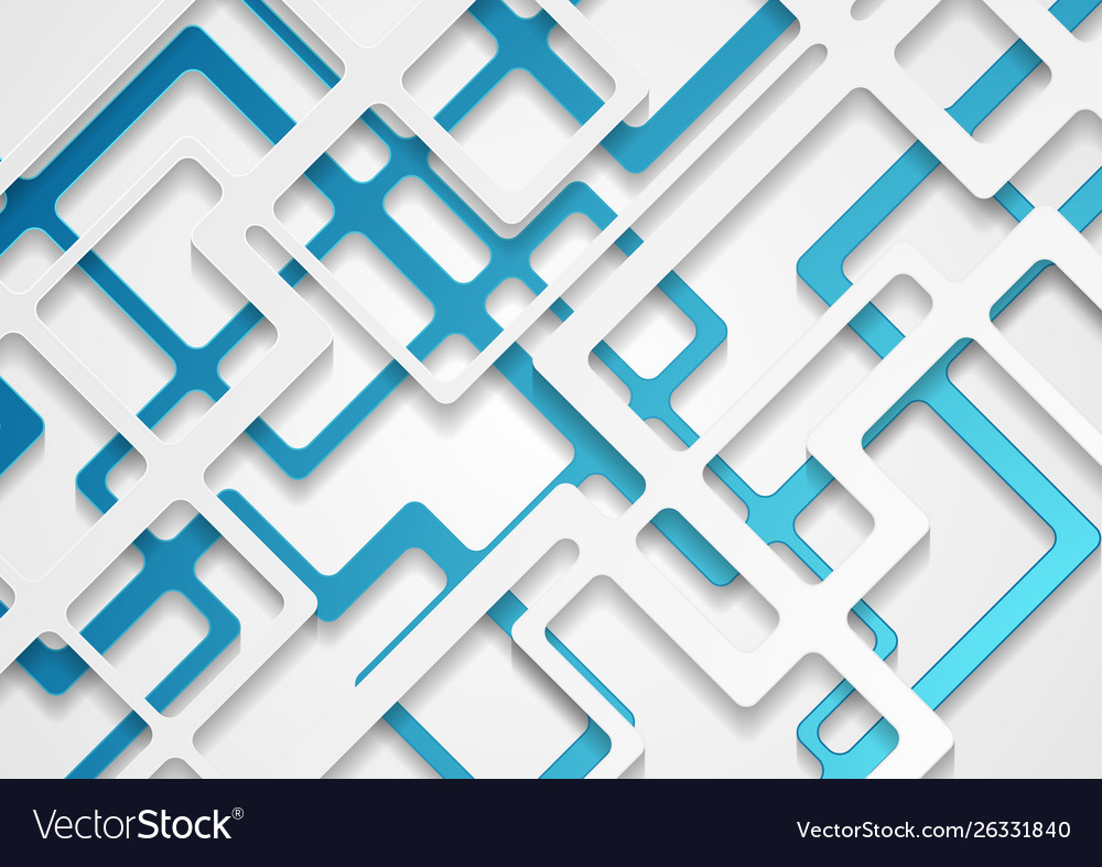 Abstract grey blue paper cut stripes corporate