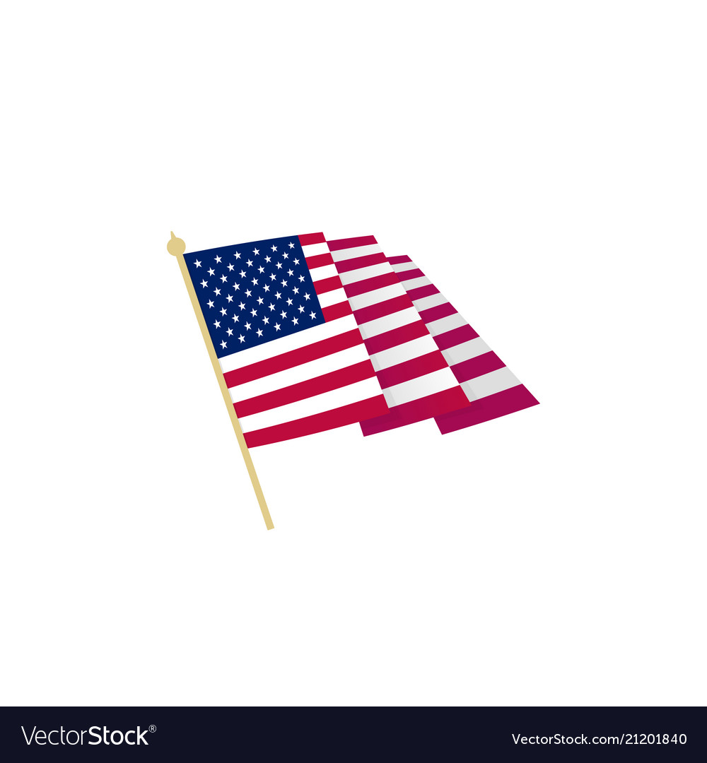 American flag waving usa flag with sharp corners