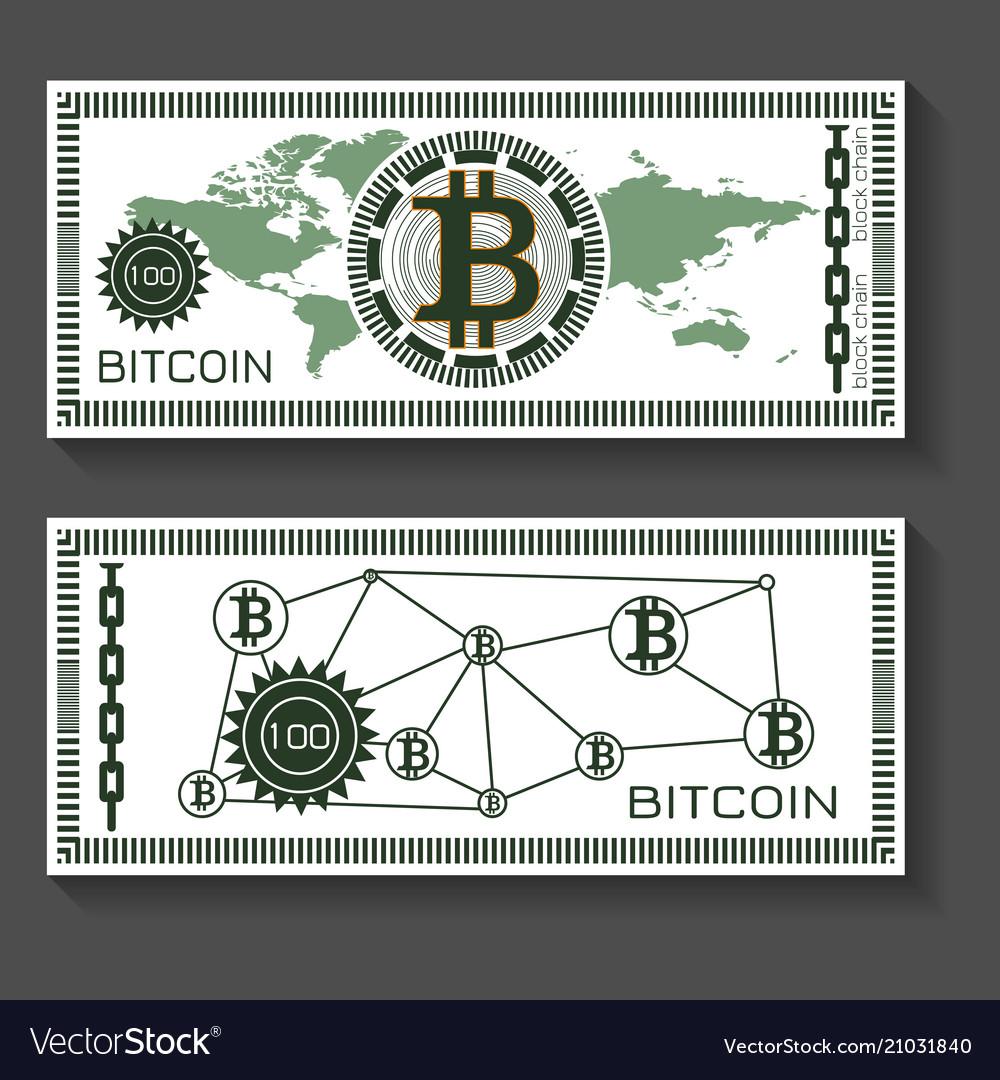 Bitcoin dollar banknote template