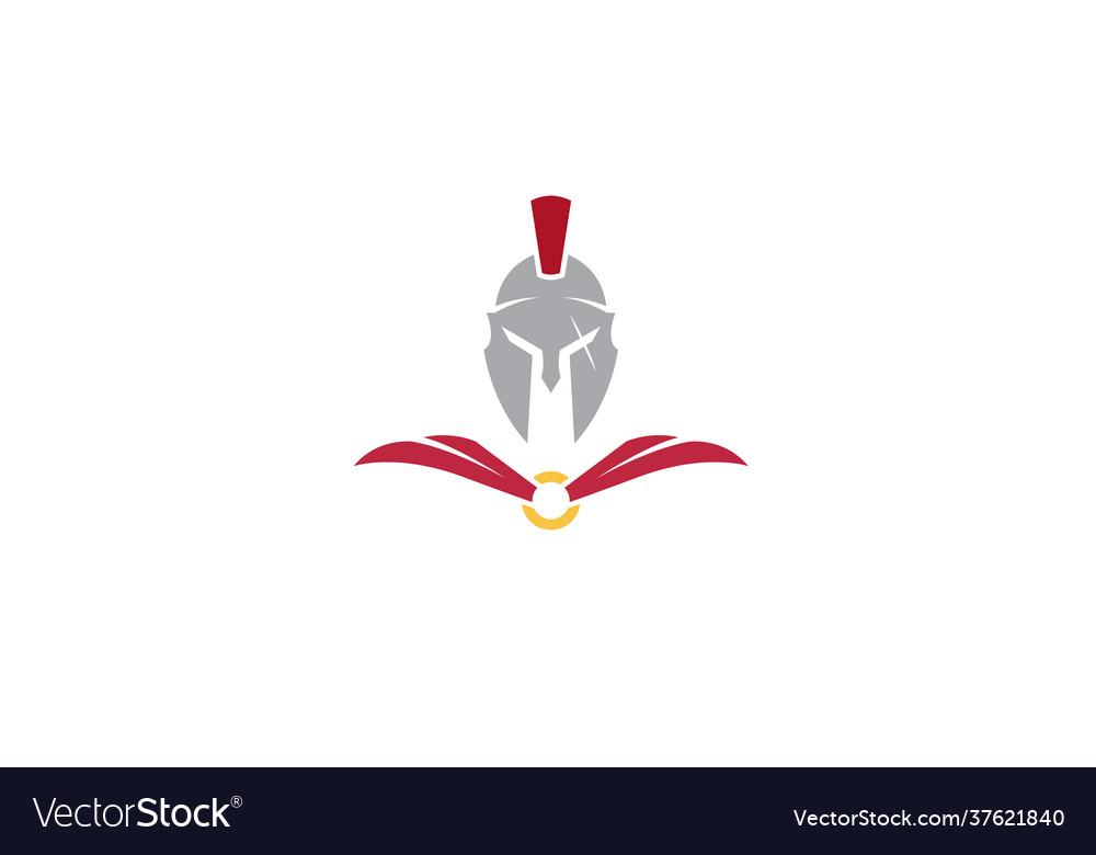 Creative spartan helmet logo design symbol