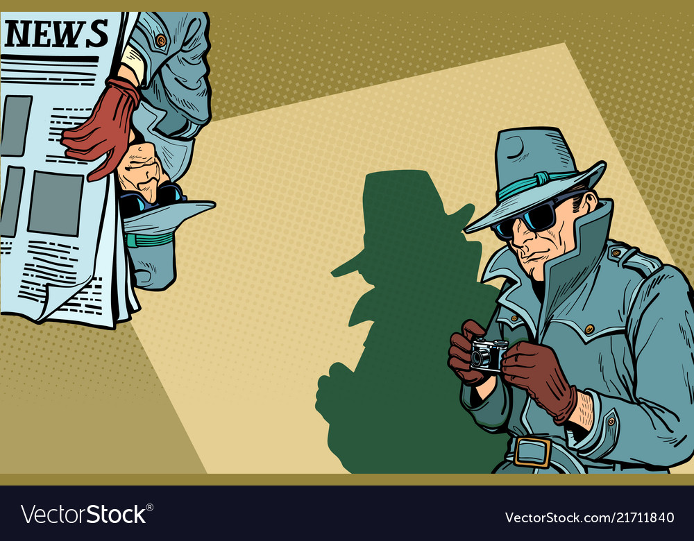 Detective spy background concept