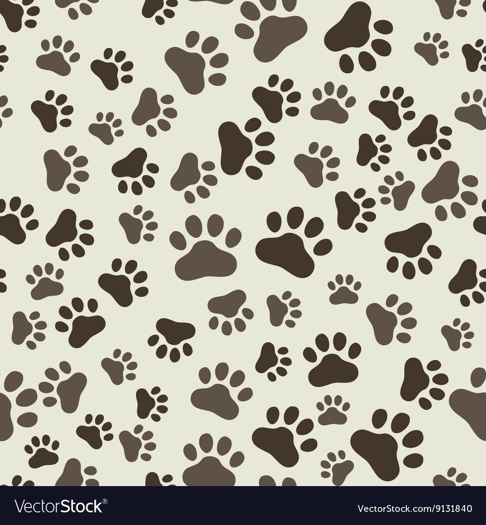 - Dog Paw Print Seamless Anilams Pattern Royalty Free Vector