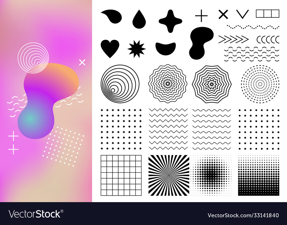 Geometric abstract elements and backgrounds