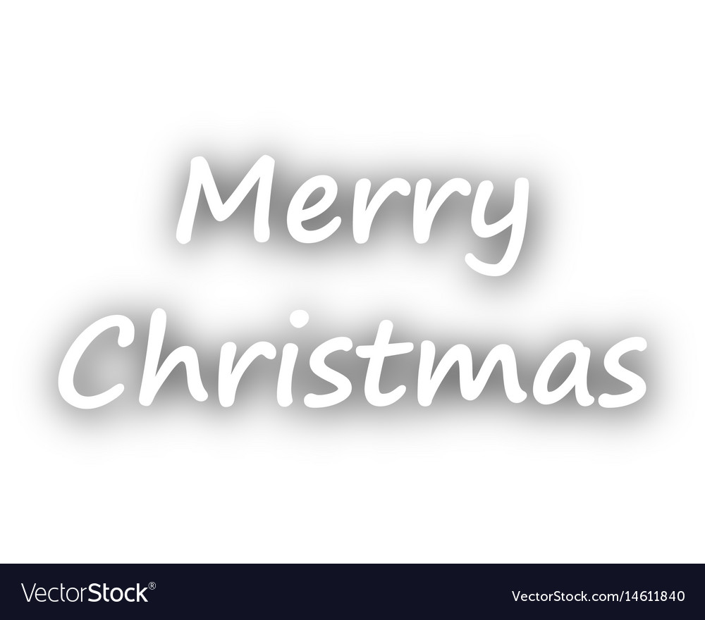 Merry Christmas Greetings On White Royalty Free Vector Image