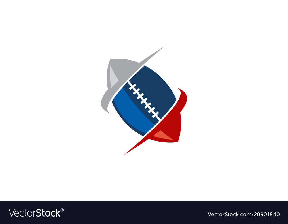 Rugby emblem template logo