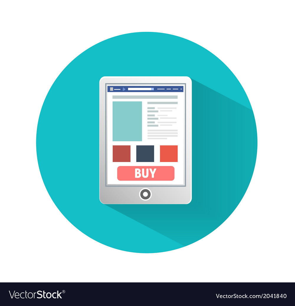 Smartphone business concept of flat design vector image