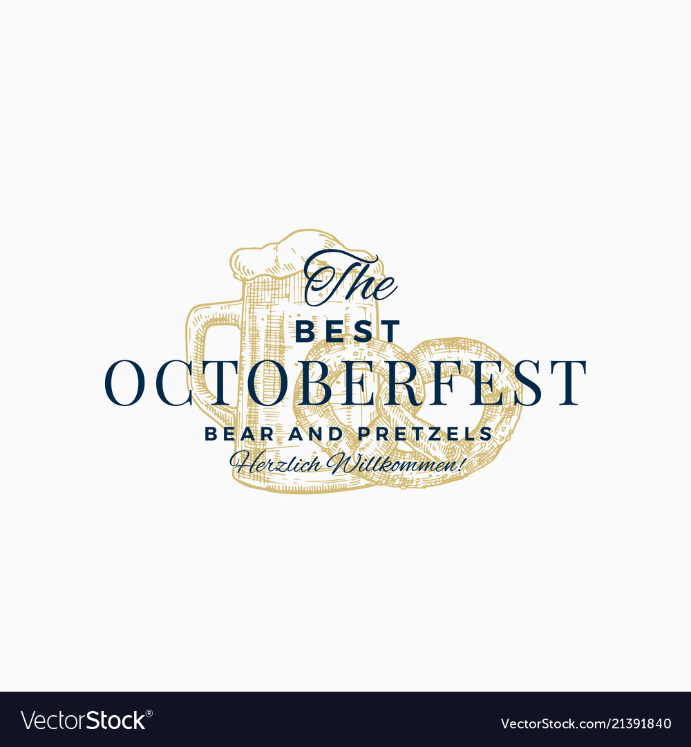 The best octoberfest pretzels and beer abstract
